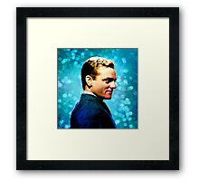 James Cagney, blue screen Framed Print