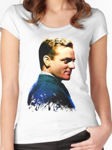 James Cagney, blue screen Women's Fitted Scoop T-Shirt