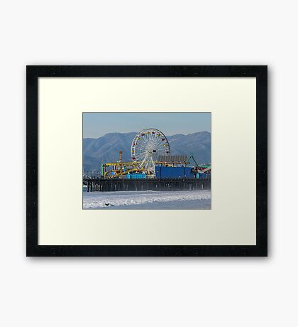 The Ferris Wheel At Pacific Park Framed Print