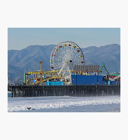 The Ferris Wheel At Pacific Park Photographic Print