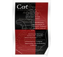 Charles Baudelaire - Cat Poster