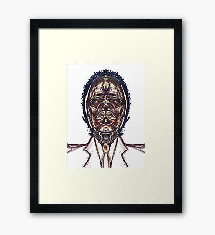 """""""Luchador De Fuego y Luz"""" Framed Print"""