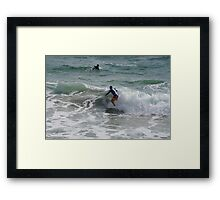 Surfers at Christies Beach Framed Print