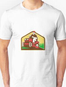 Gardener Landscaper Ride On Lawn Mower Retro Unisex T-Shirt
