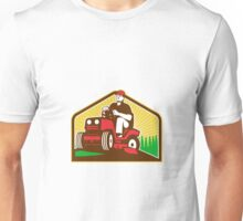 Gardener Landscaper Ride On Lawn Mower Retro Unisex T-Shirt