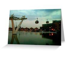 Emirates Airline Victoria Dock London Greeting Card