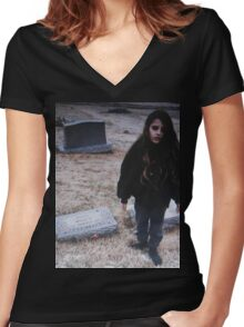 Crystal Castles (II) Women's Fitted V-Neck T-Shirt