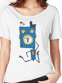 crazy little monster robot Women's Relaxed Fit T-Shirt