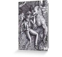 Human and Werewolf 1 Greeting Card