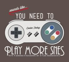 Evolve Today! Play More SNES - Dark Shirts by RetroReview