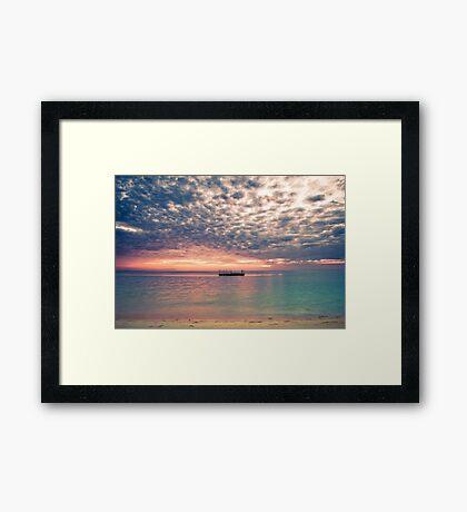 Altocumulous Clouds at Araha Beach Framed Print