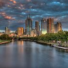 Melbourne Splendor Yarra Sunrise by Dean Prowd Panoramic Photography