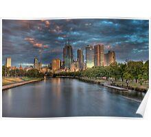 Melbourne Splendor Yarra Sunrise Poster