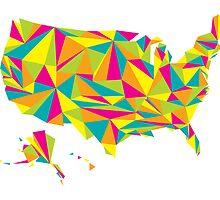 Abstract America Bright Earth by Travla Creative
