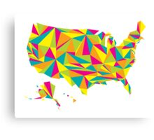 Abstract America Bright Earth Canvas Print