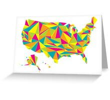 Abstract America Bright Earth Greeting Card