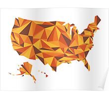 Abstract America Desert Rock Poster