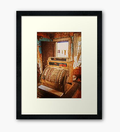 Cash No Credit Framed Print