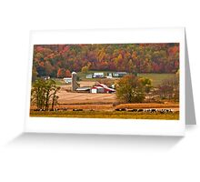 AUTUMN FARMING SCENE Greeting Card