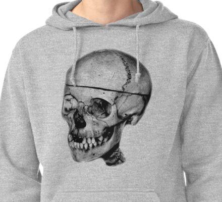 Halloween Spooky Skull. Digital Halloween Engraving Image Pullover Hoodie