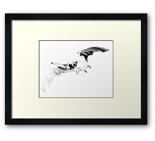 Vampire Bat Halloween Digital Engraving Image. Framed Print