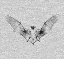 Vampire Bat Halloween Digital Engraving Image. Kids Tee