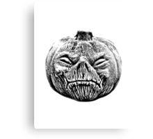 Jackolantern Halloween Digital Engraving Image Canvas Print