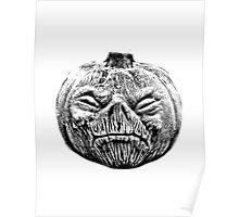 Jackolantern Halloween Digital Engraving Image Poster