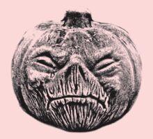 Jackolantern Halloween Digital Engraving Image Kids Tee