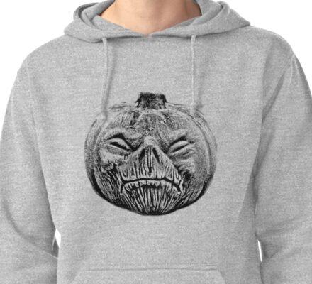 Jackolantern Halloween Digital Engraving Image Pullover Hoodie