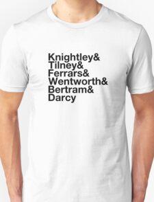 Men of Jane Austen Helvetica Unisex T-Shirt