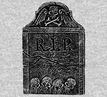 Creepy Halloween Tombstone. Horror and Gothic Digital Engraving Image Hoodie