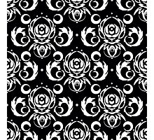 Vector black background for textile design. Photographic Print