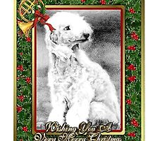 Bedlington Terrier Dog Christmas by Oldetimemercan