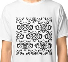 Vector black background for textile design. Classic T-Shirt