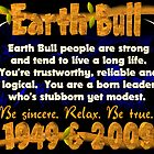 1949 2009 Chinese zodiac born as Earth Bull by Valxart