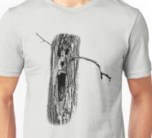 Halloween Spooky Haunted Tree. Digital Halloween Engraving Image Unisex T-Shirt