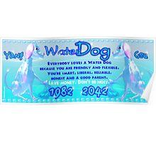 1982 2042 Chinese zodiac Water Dog Poster