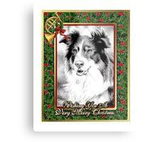 Australian Shepherd Christmas Metal Print