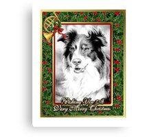 Australian Shepherd Christmas Canvas Print