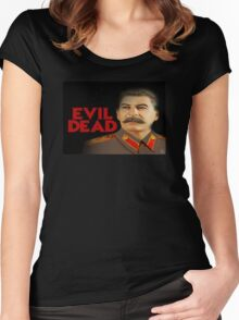 Evil Dead Stalin Women's Fitted Scoop T-Shirt