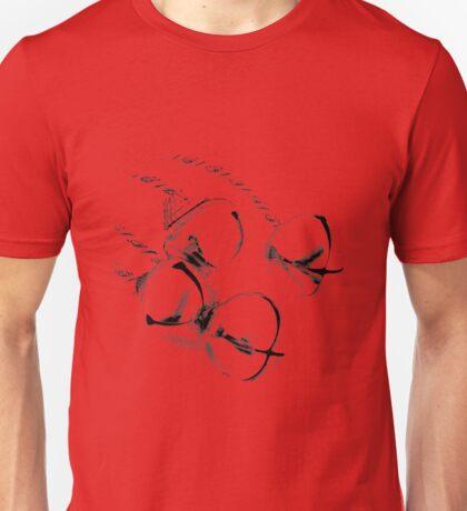 Christmas Jingle Bells. Holiday and Christmas Digital Engraving Image Unisex T-Shirt