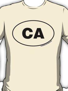 California CA  Euro Oval Sticker T-Shirt