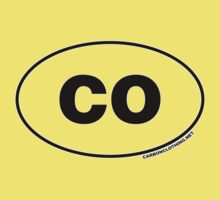 Colorado CO Euro Oval Sticker by CarbonClothing