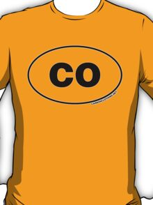 Colorado CO Euro Oval Sticker T-Shirt