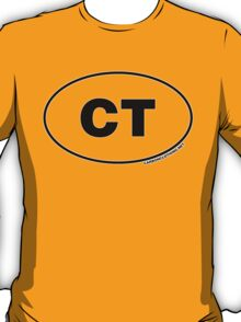 Connecticut CT Euro Oval Sticker T-Shirt