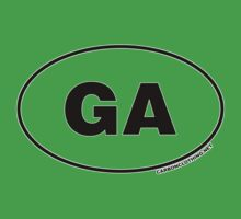 Georgia GA Euro Oval Sticker by CarbonClothing