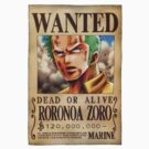Zoro - Wanted by elPotto