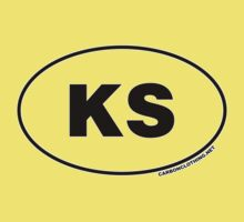 Kansas KS Euro Oval Sticker by CarbonClothing
