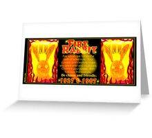 1927 1987 Chinese zodiac born Fire rabbit by Valxart.com  Greeting Card